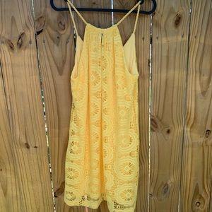 Bright yellow lace sundress-women's S